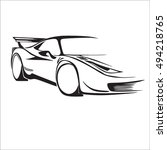 car sport vector | Shutterstock .eps vector #494218765