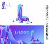 template l brand name companies.... | Shutterstock .eps vector #494220361