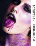 purple girl   Shutterstock . vector #494225101