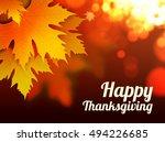 happy thanksgiving vector... | Shutterstock .eps vector #494226685