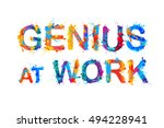 genius at work. vector... | Shutterstock .eps vector #494228941