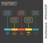 infographics template with 5... | Shutterstock .eps vector #494231029
