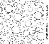seamless soap bubbles pattern.... | Shutterstock .eps vector #494231629