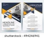 abstract vector modern flyers... | Shutterstock .eps vector #494246941
