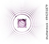 Purple Radar Circles Fractals...