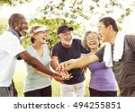 group of senior retirement... | Shutterstock . vector #494255851