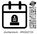 cemetery monument day icon with ...   Shutterstock .eps vector #494262724