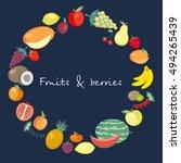 twenty five icons of fresh...   Shutterstock .eps vector #494265439