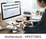 vehicle insurance claim form... | Shutterstock . vector #494271841