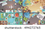 flat web banners set on the... | Shutterstock . vector #494272765