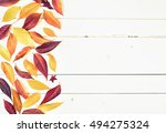 bright and pretty fall display... | Shutterstock . vector #494275324