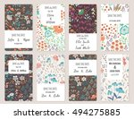 vector set of card templates.... | Shutterstock .eps vector #494275885