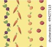 vegetable seamless pattern.... | Shutterstock .eps vector #494277115