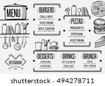 restaurant menu placemat food... | Shutterstock .eps vector #494278711