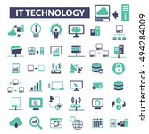 it technology icons | Shutterstock .eps vector #494284009