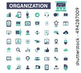 organization icons | Shutterstock .eps vector #494287009