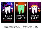 halloween concept of teeth... | Shutterstock .eps vector #494291845