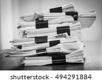 stack of business report paper... | Shutterstock . vector #494291884
