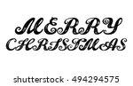 merry christmas. calligraphy...   Shutterstock .eps vector #494294575