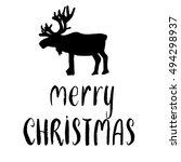 merry christmas   lettering...   Shutterstock .eps vector #494298937