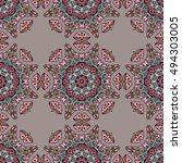 seamless pattern ethnic style.... | Shutterstock . vector #494303005