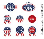 vector set of made in the usa... | Shutterstock .eps vector #494308639