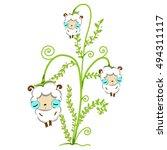 vector illustration of cute... | Shutterstock .eps vector #494311117