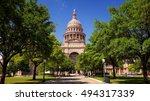 texas state capitol building in ... | Shutterstock . vector #494317339