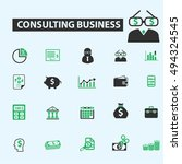 consulting business icons | Shutterstock .eps vector #494324545