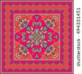 beautiful oriental scarf with... | Shutterstock . vector #494331451