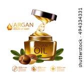 argan oil serum skin care... | Shutterstock .eps vector #494334331
