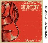 western country music poster... | Shutterstock .eps vector #494335801