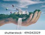 Conceptual Image Of A Mountain...