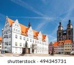 market square in wittenberg ... | Shutterstock . vector #494345731