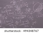 close up of blackboard for... | Shutterstock . vector #494348767