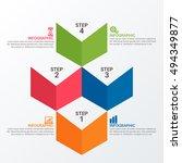 infographic report template... | Shutterstock .eps vector #494349877