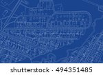 abstract map. urban city top... | Shutterstock .eps vector #494351485
