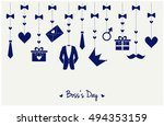 boss's day greeting card or... | Shutterstock .eps vector #494353159