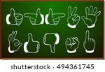 different hand gestures on... | Shutterstock .eps vector #494361745