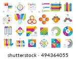 set of colored business... | Shutterstock .eps vector #494364055
