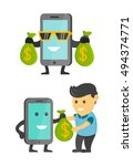 business concept phone make... | Shutterstock .eps vector #494374771
