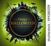 halloween. | Shutterstock .eps vector #494380339