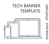 adaptive web phone template and ... | Shutterstock .eps vector #494391685