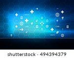 medical abstract background ... | Shutterstock . vector #494394379