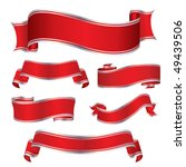 red silver banners | Shutterstock .eps vector #49439506