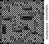 micro plate background black... | Shutterstock .eps vector #494395891