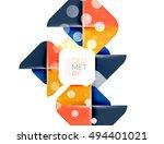square banner geometric... | Shutterstock .eps vector #494401021