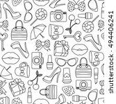 vector pattern of glamor... | Shutterstock .eps vector #494406241