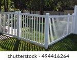 white vinyl fence | Shutterstock . vector #494416264