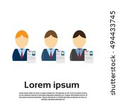 curriculum vitae recruitment... | Shutterstock .eps vector #494433745